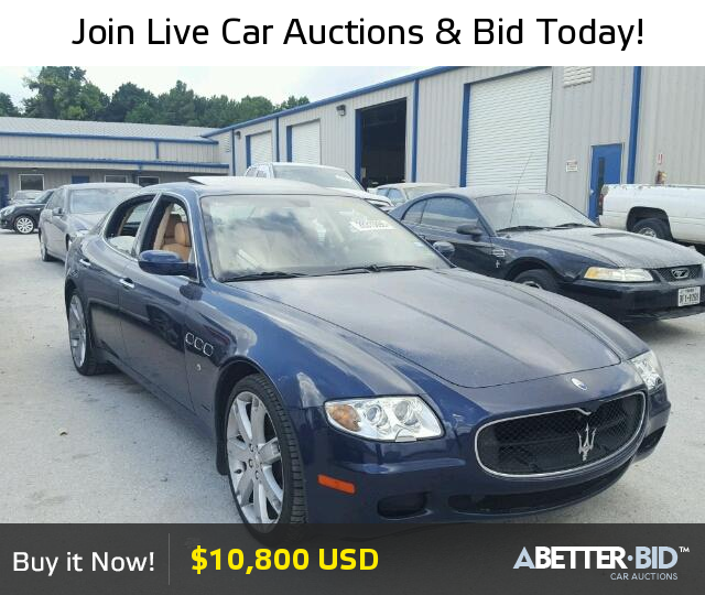 Salvage 2007 MASERATI ALL MODELS For Sale