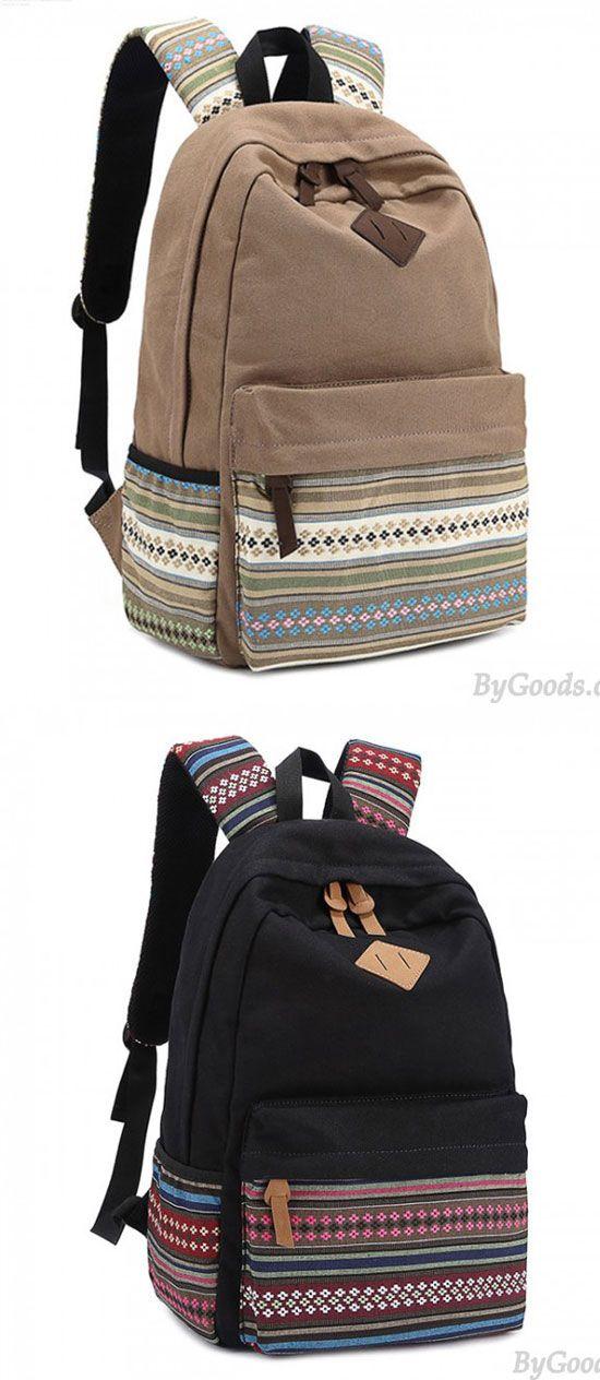Backpacks Canvas Denim Backpack College School Backpack Lightweight Travel Packs