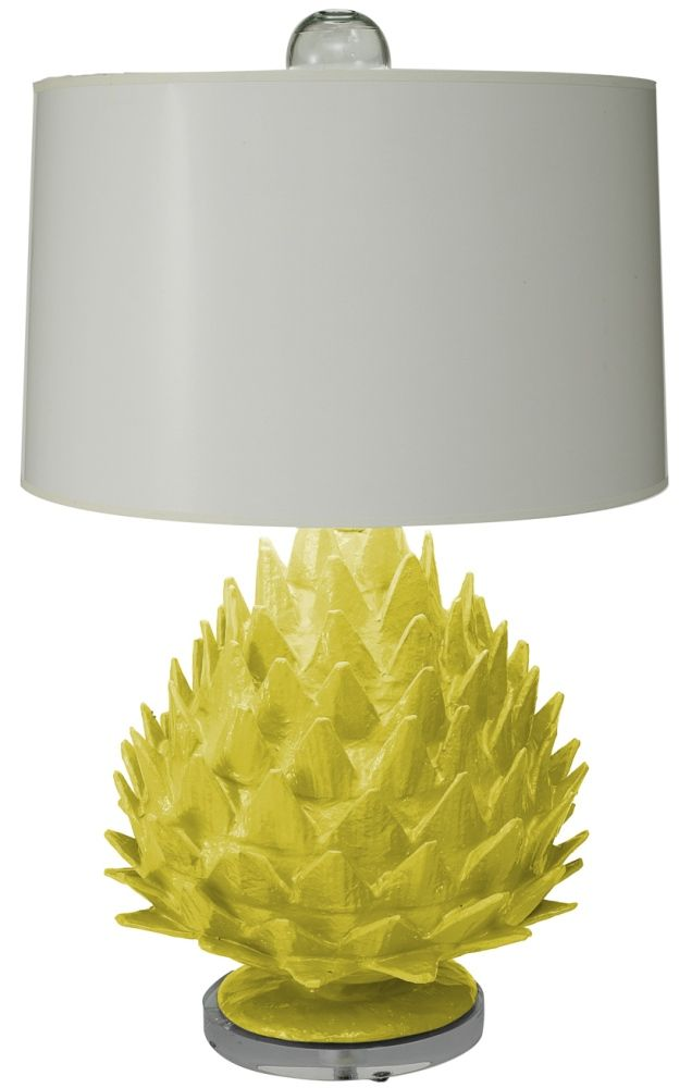 Artichoke Chartreuse Lamp - too funny! love that color!