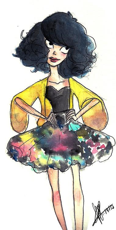 Drawn Tim Burton style by my friend Patricia.