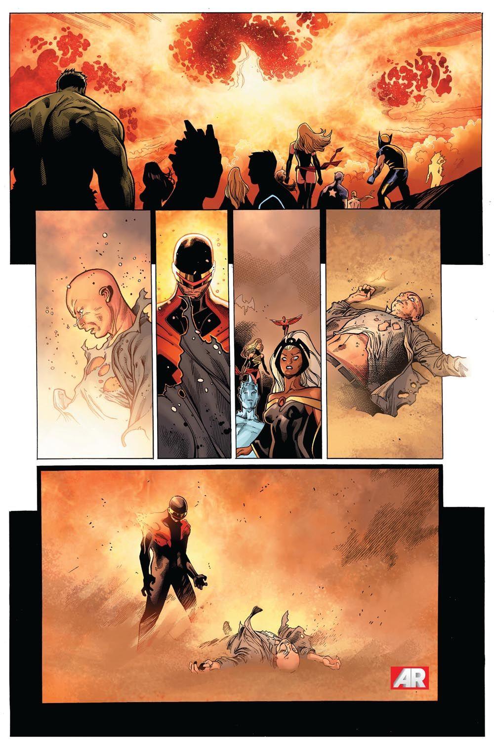 b78e9e01336 Legendary Marvel Character Dies in AVENGERS VS X-MEN #11 - Comic ...