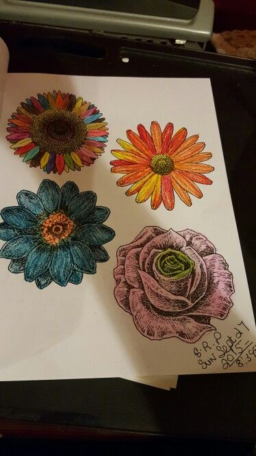 My Flowers Coloring Pg I Color From The Colorama Book