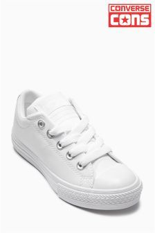 0d2fd4f67b24 White Converse Leather High Street £35