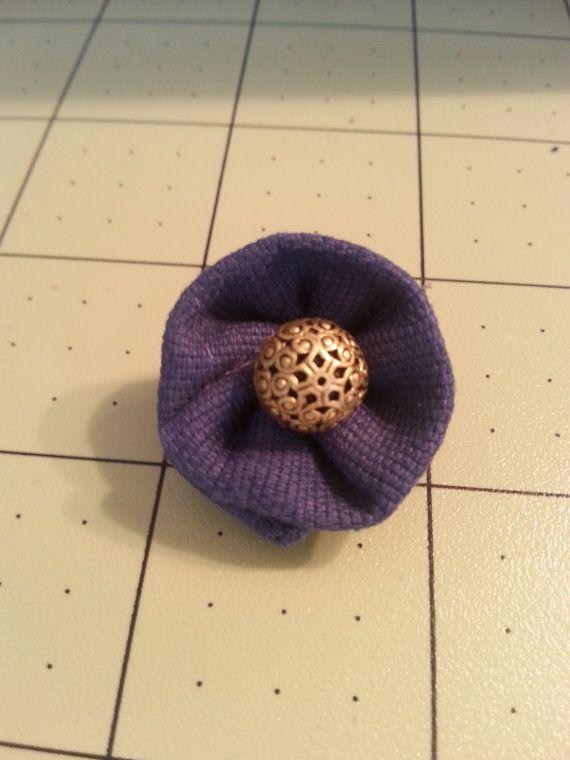 Blue & Gold Lapel Flower/Pin Sm