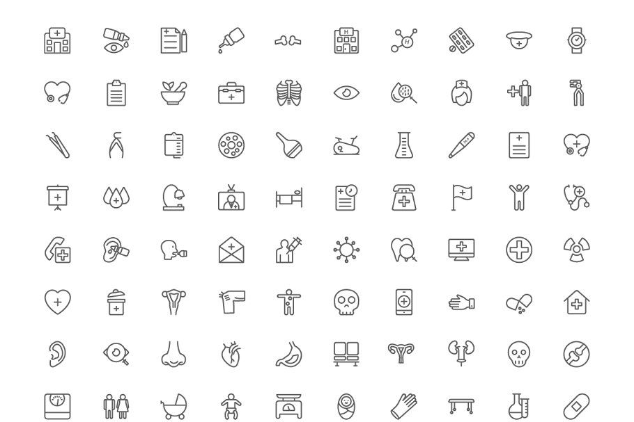 300 Medical Line Icons Line Icon Portfolio Website Template Png Icons