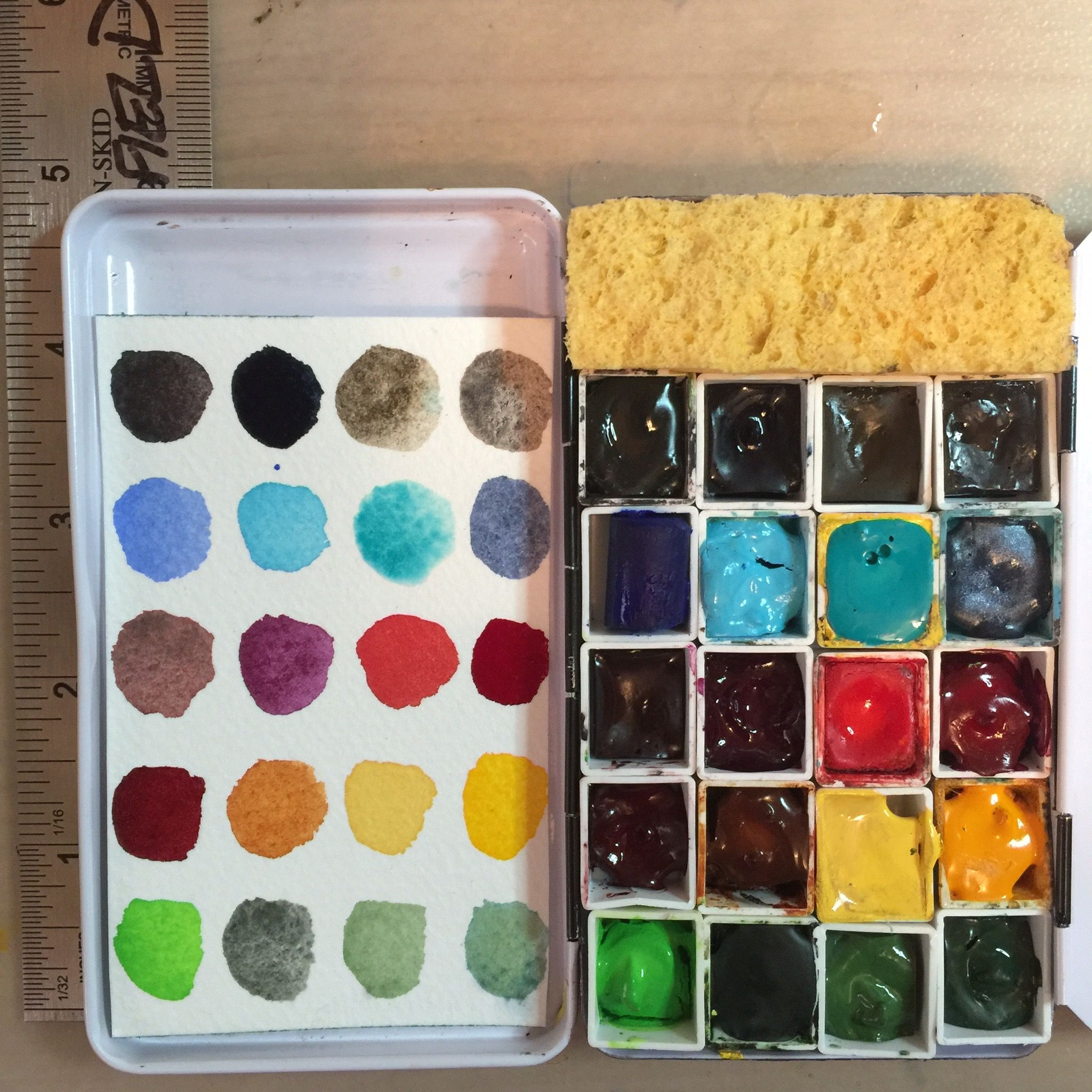 Preparing A Travel Palette Watercolor Kit Palette Art