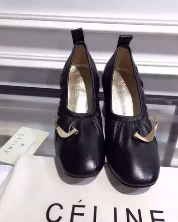 Latest Celine soft ballerina pump with pin without pin black ... dfe2d0a179518