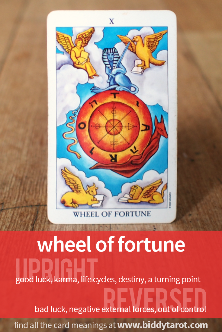 """More Tarot Tuesday The Occult Detective The High: Major Arcana Card """"Wheel Of Fortune"""" #tarotcardmeaning"""
