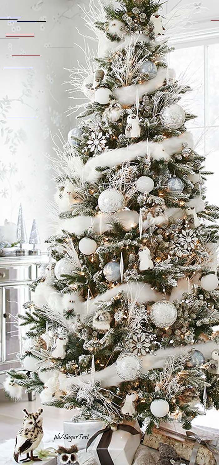 43 Christmas Tree Ideas The Christmas Season Is Here And That Means Decorating Frosted Christmas Tree Christmas Tree Themes Scandinavian Christmas Trees