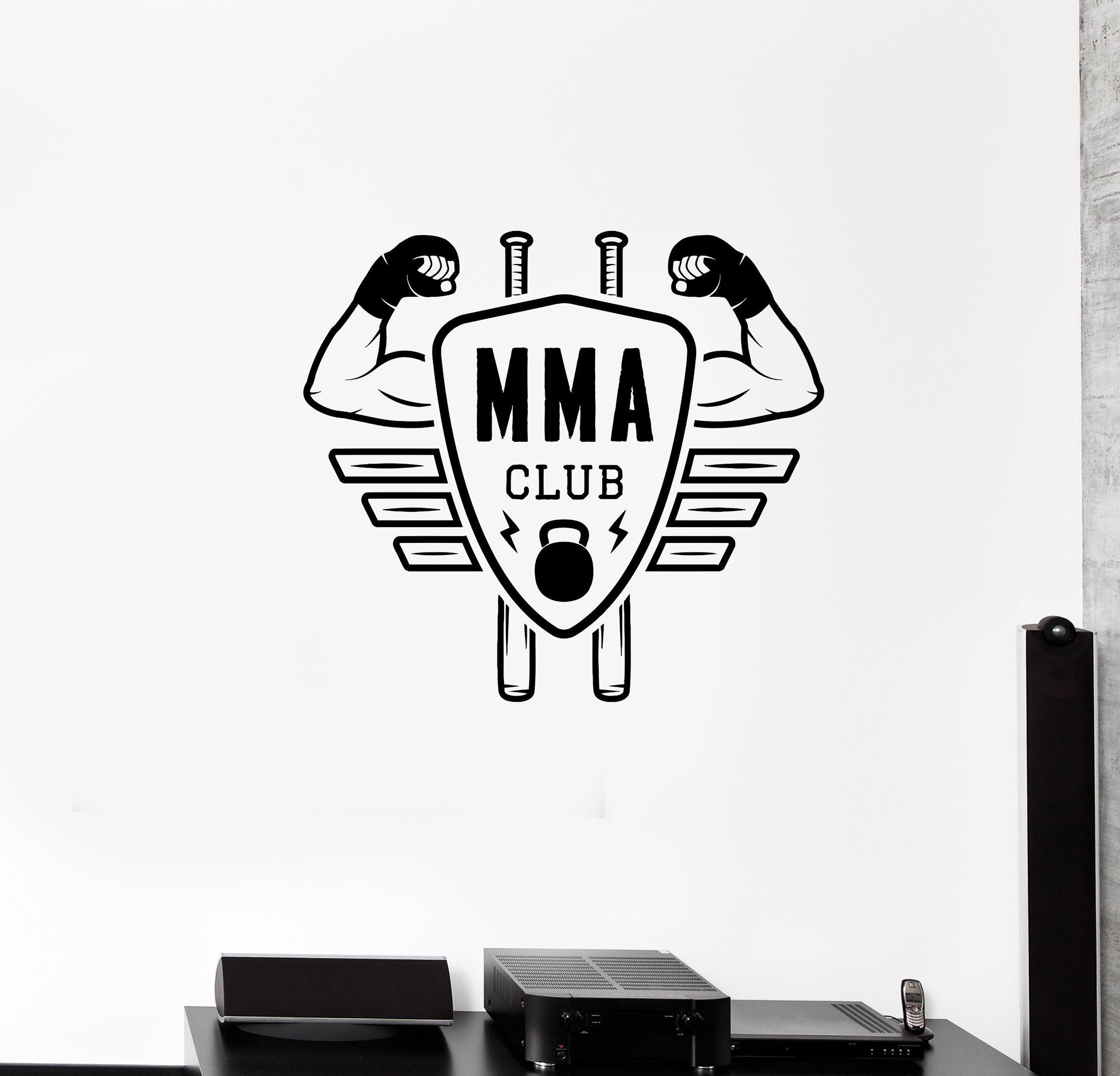 Vinyl Wall Decal Muscle Gym Bodybuilding Muscled Man Stickers 605ig