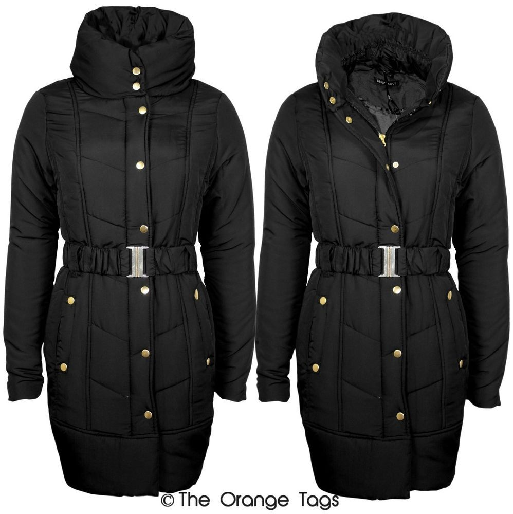 coupon code big sale pretty nice Details about NEW LADIES PADDED QUILTED JACKET WOMENS ZIPPED ...