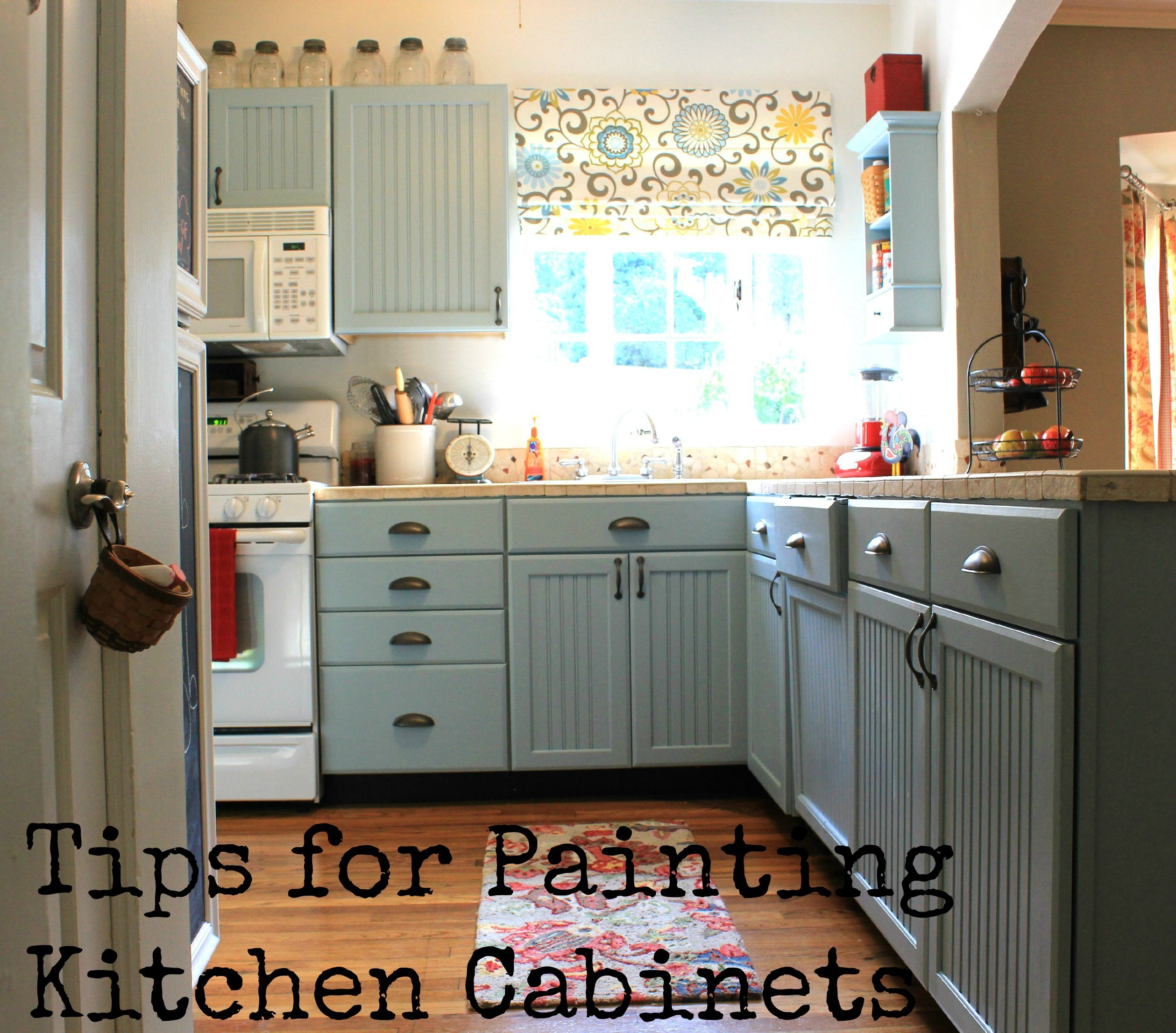 Tips On Painting Kitchen Cabinets: Cottage4C LOVE THIS BLOG! Tips For Painting Kitchen
