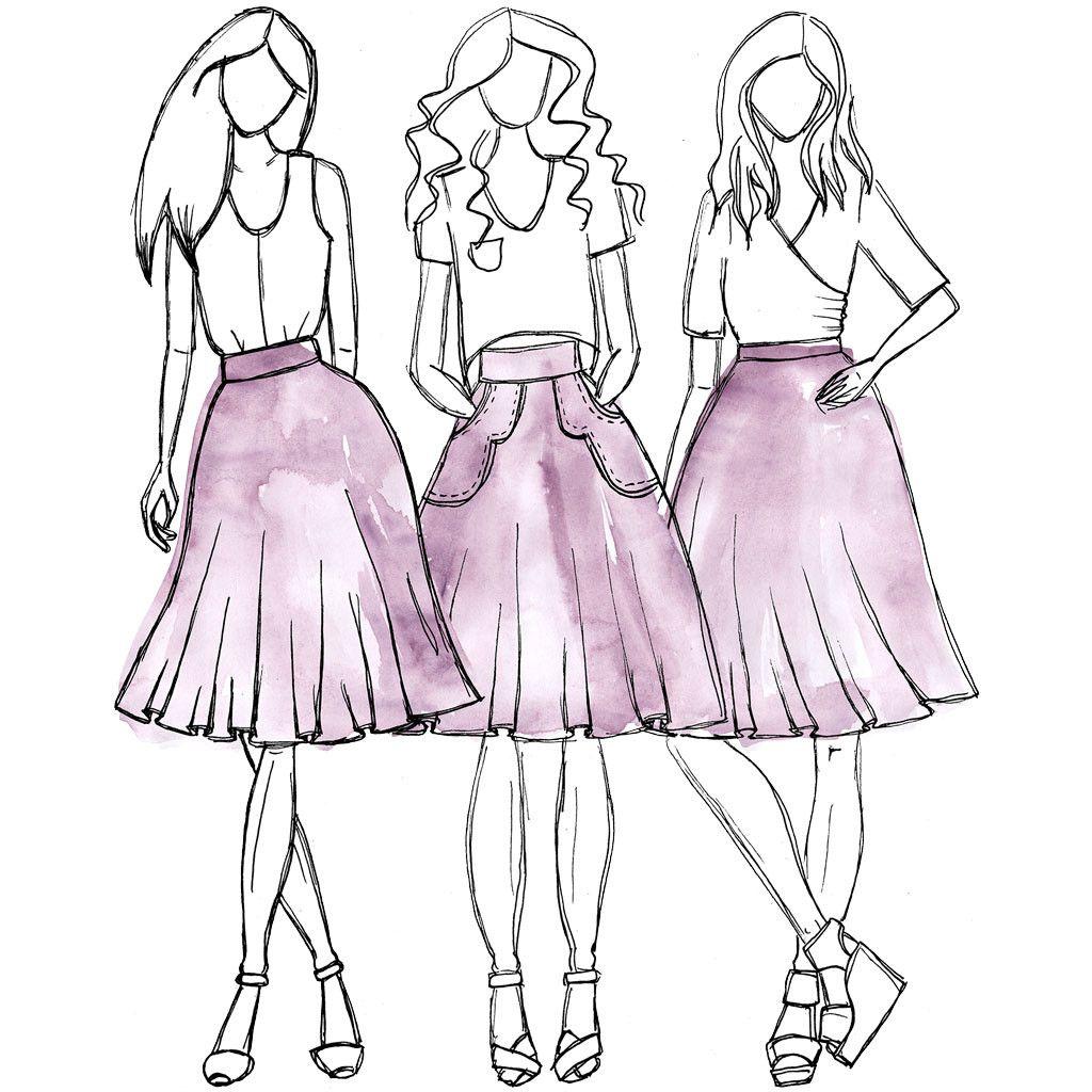 Veronika skirt sewing pattern | Sewing Pattern | Pinterest | Costura ...