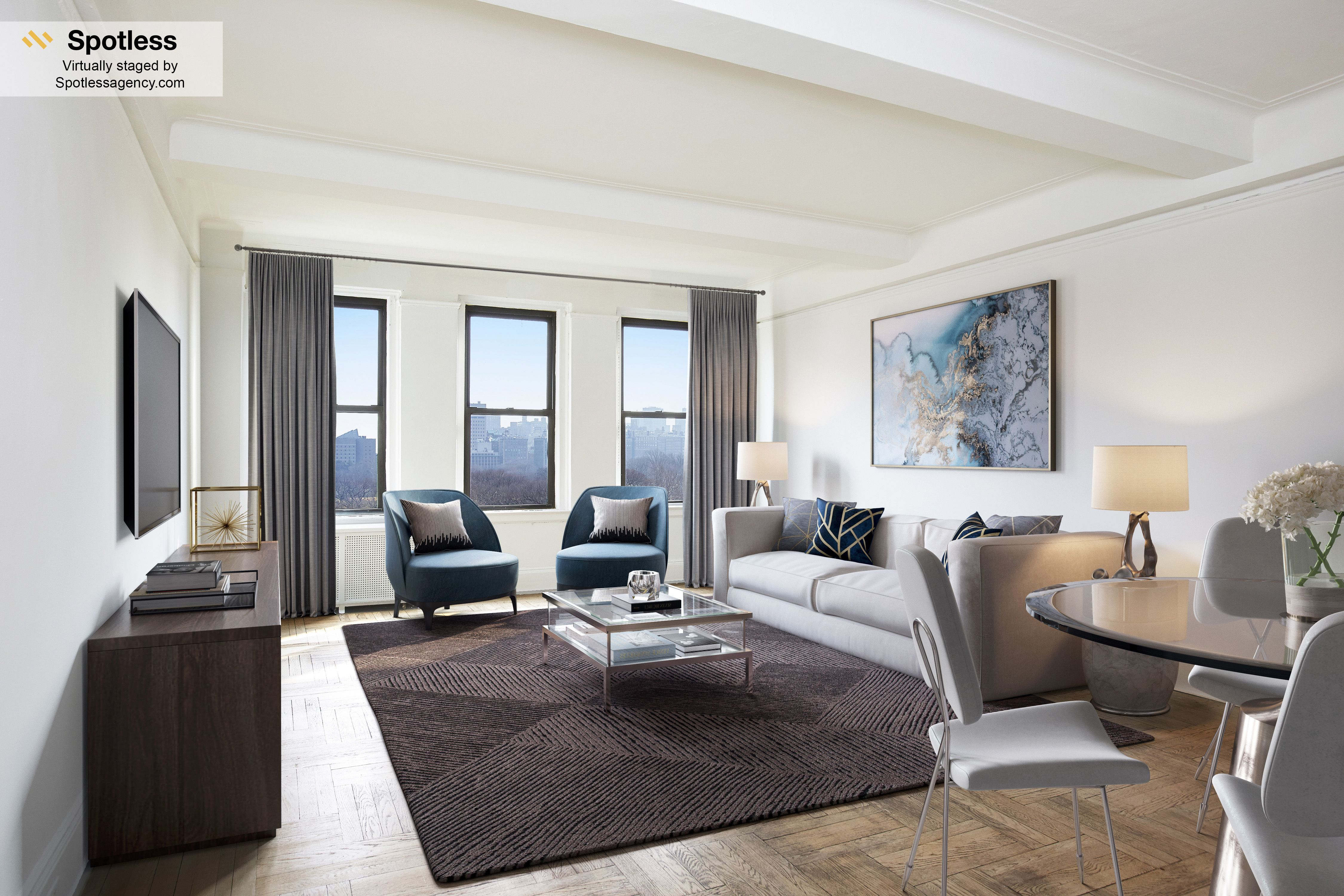 Virtual Staging Living room by Spotless Agency #virtualystaging ...