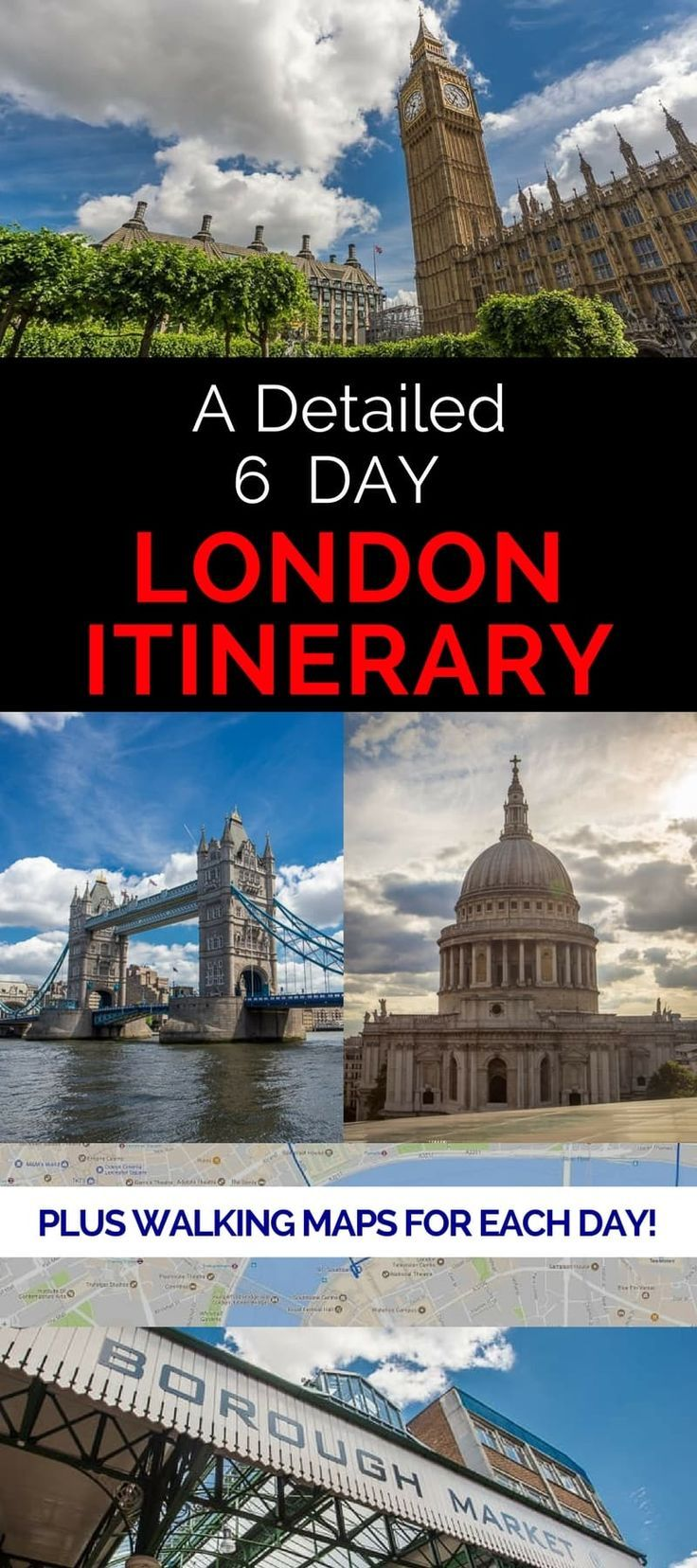 London Itinerary: How to Spend 6 Days in London #travelengland