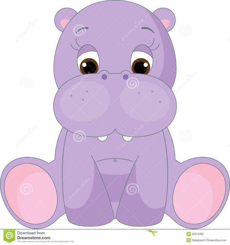 Resultado De Imagen Para Hipopotamo Bebe Animado Animales Bebe