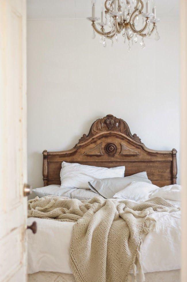 Carved Wood Headboard Home Bedroom Bedroom Decor Vintage Home