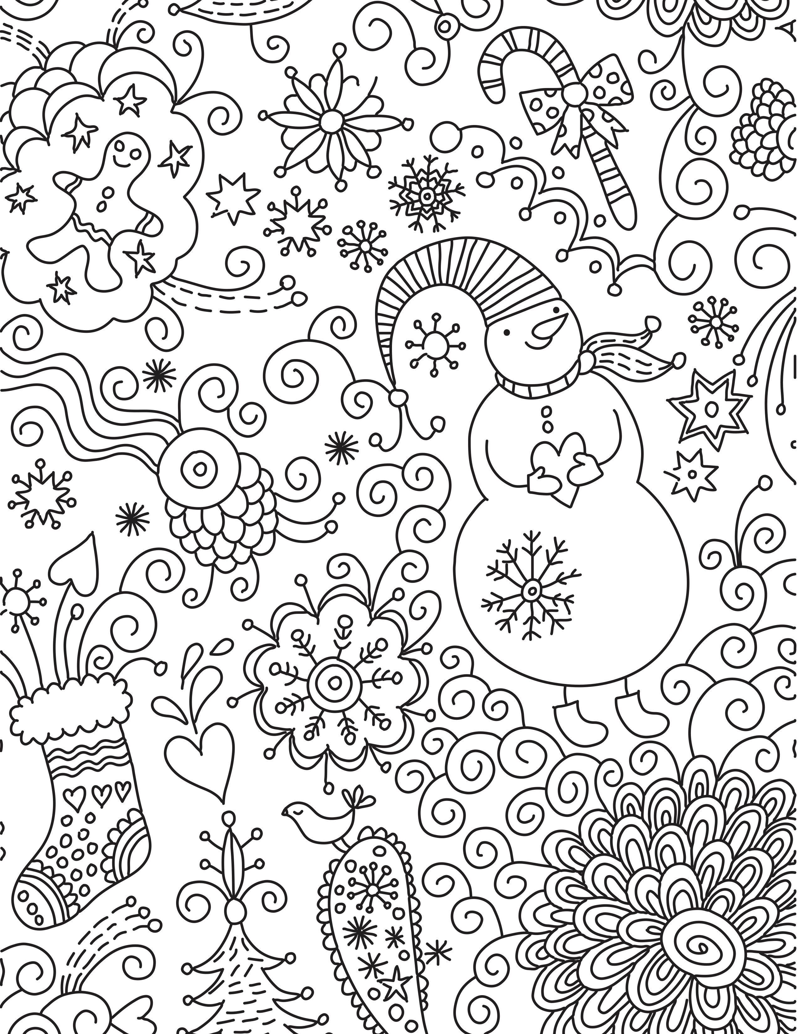Perfecto Navidad Imprimibles Para Adultos Ilustración - Dibujos Para ...