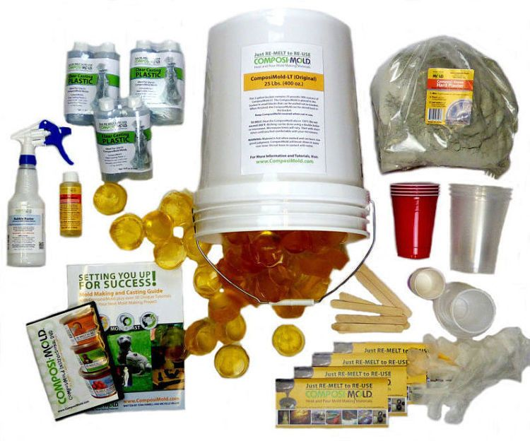 Re-Usable Mold Making and Casting Kit for Classrooms and MakerSpaces