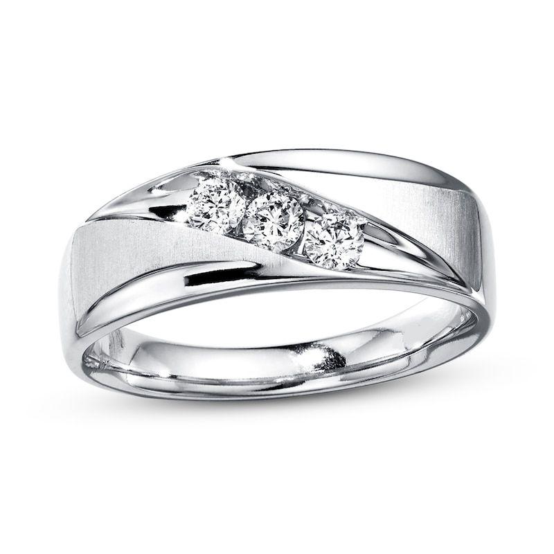 Men S Tungsten Wedding Bands Kay Jewelers In 2020 Mens Diamond Wedding Bands Mens Diamond Wedding Diamond Wedding Bands