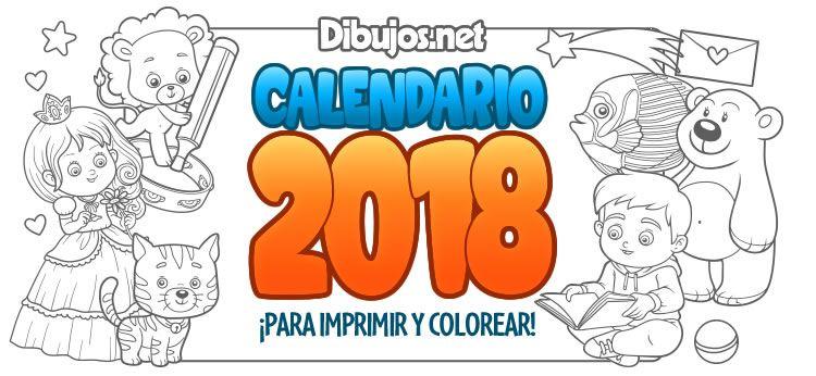 Ya está aquí el nuevo Calendario 2018 para colorear de Dibujos.net ...