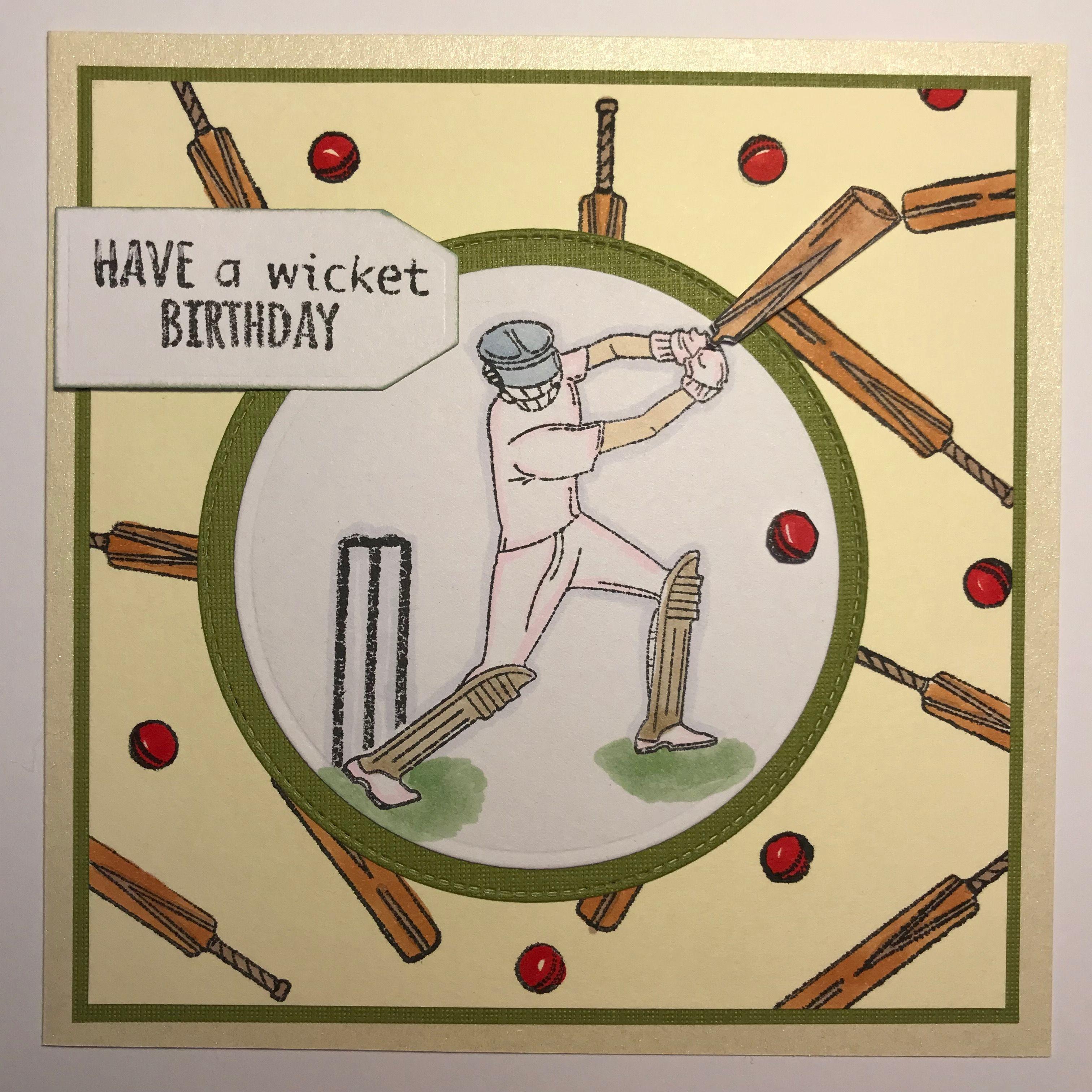 Birthday Card For Cricketer Kardsbykan Birthday Card Sayings Male Cards Birthday Cards