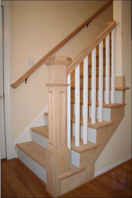 Oak Rail U0026 Stair Tread Replacement