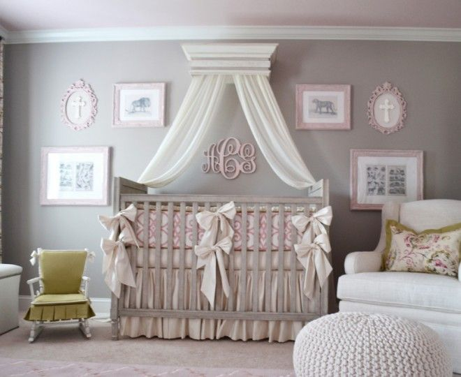 Great Sumptuous Crib Canopy Mode Atlanta Transitional Nursery Decoration Ideas  With Baby Bedding Bows Butterfly Pleat Canopy Awesome Ideas
