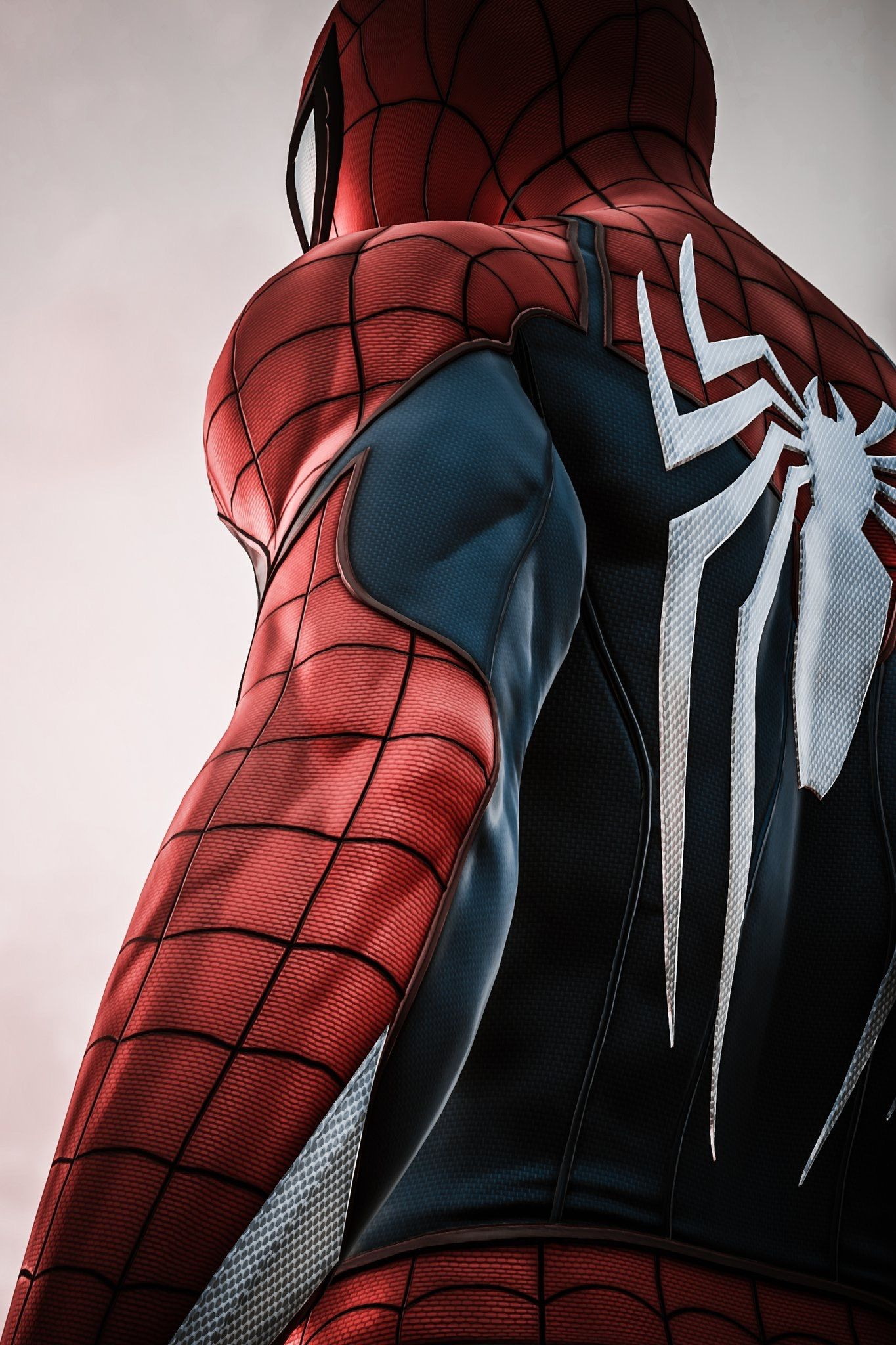 Spider Man Awesome Suit I Think This Suit Is From The Amazing Spider Man 2012 When Andrew Garfield As Peter Park Heros Marvel Spiderman Ps4 Personnages Marvel
