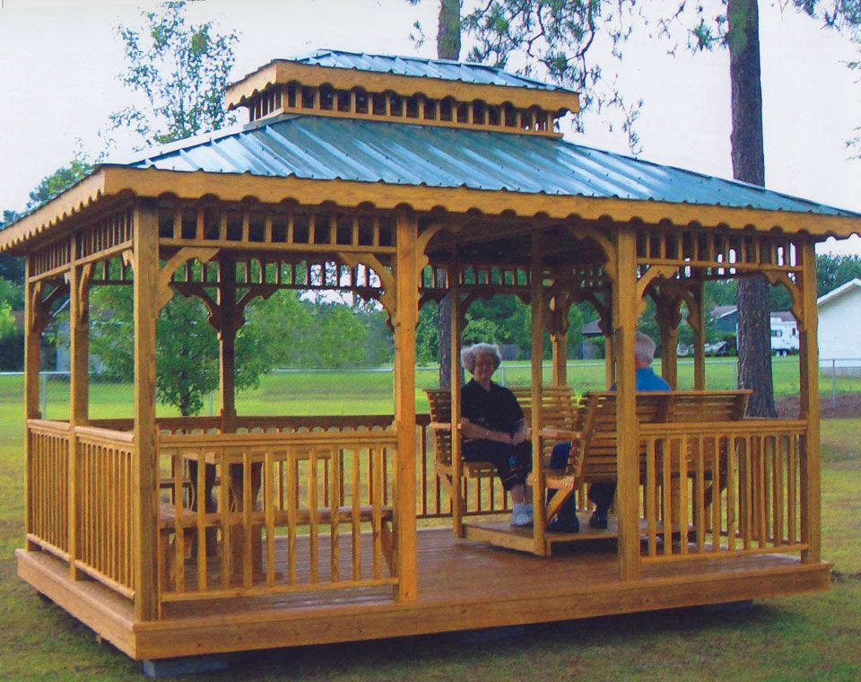 10 X 16 Rectangle Gazebo 1016r 08 Yoder Country Gazebos Gazebo Rectangle Gazebo Gazebo Plans