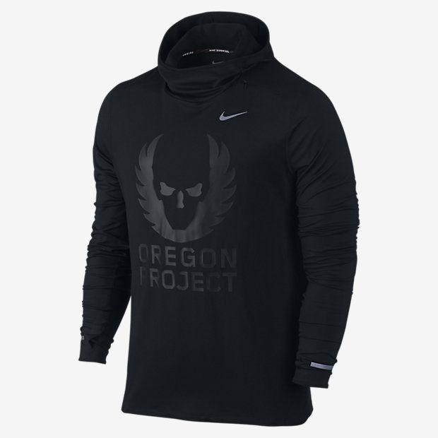 Mens Nike Energy Element Orpjt Black Running Hoodie