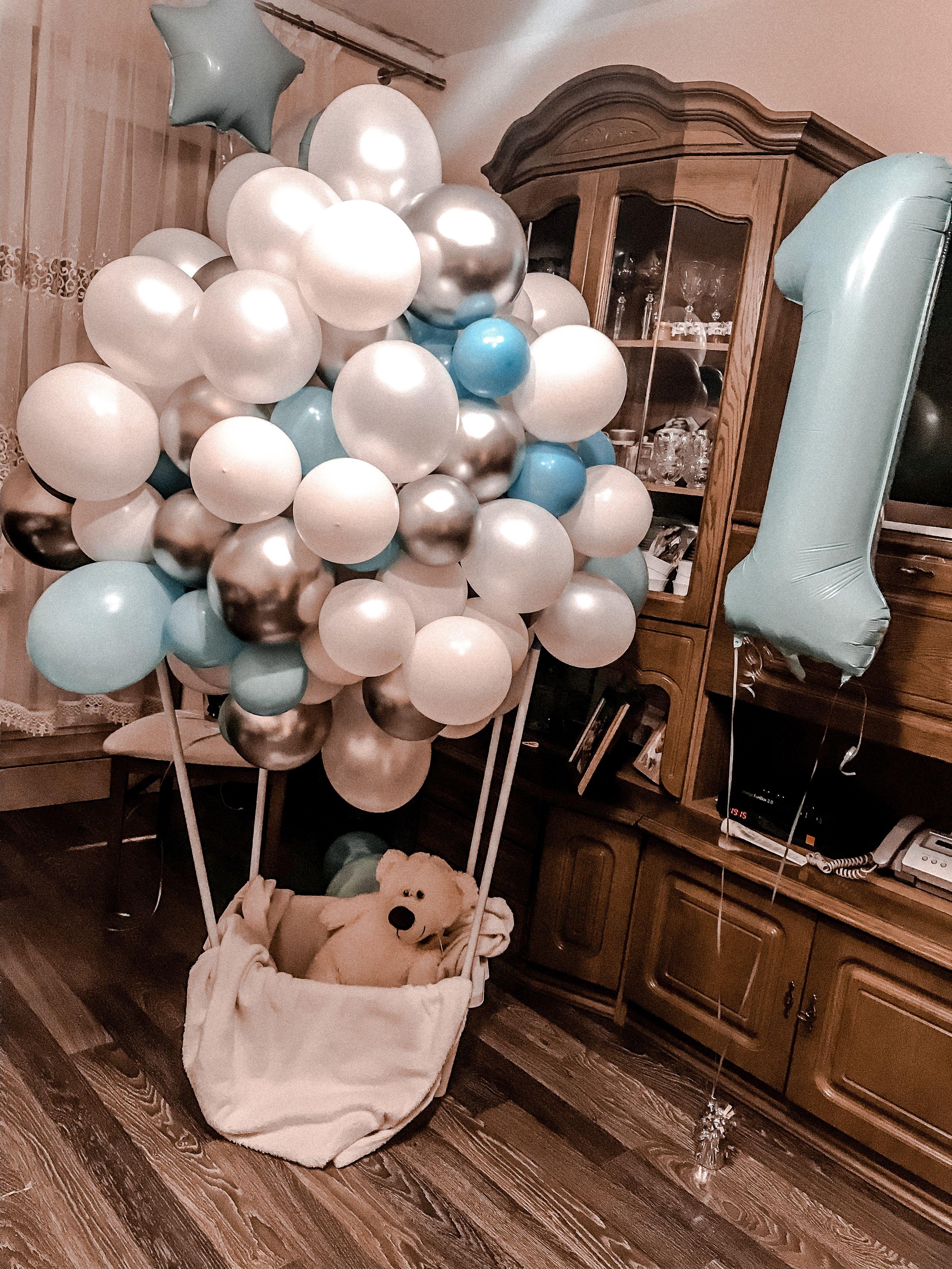 First Birtday Decoration Roczek With Images Balony Imprezy Czek