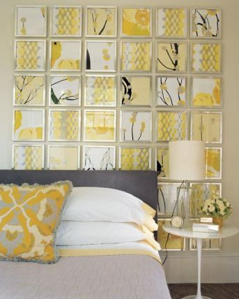 love the mustard yellow with grey & white
