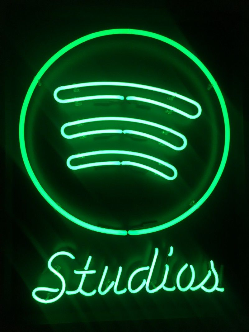 Image result for spotify studios Spotify, Neon signs, Studio