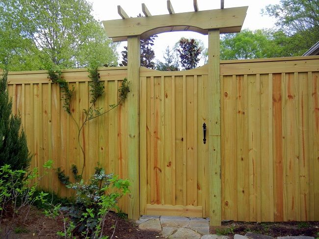 Board And Batten Fence And Gate By Lavender Blue Garden Design