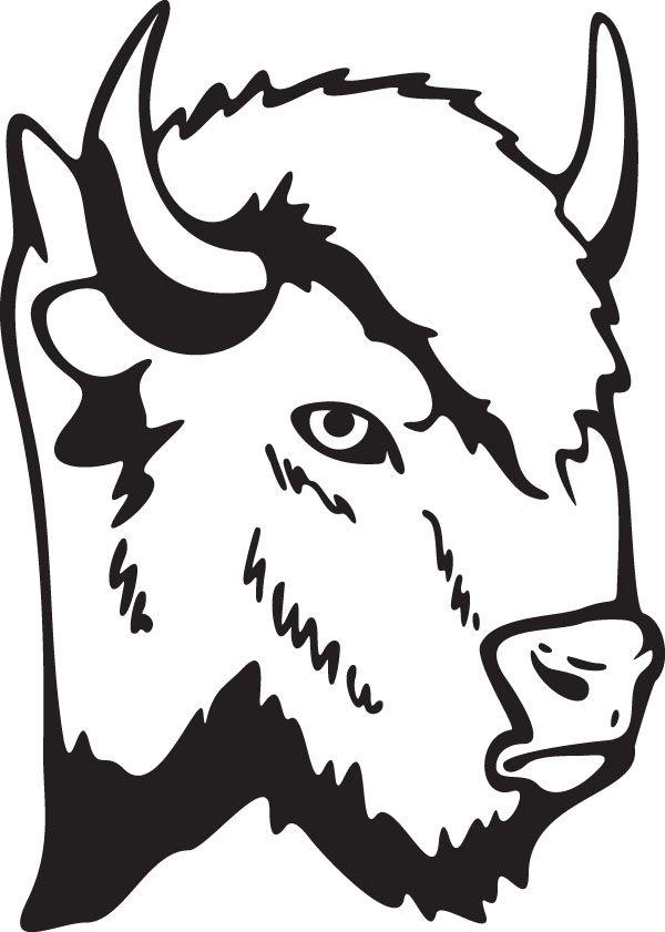 Buffalo Bison Head Animal Clip Art For Custom Ts Buffalo