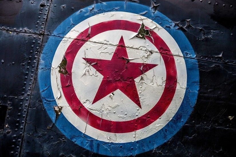 Superheroes Logos Wallpaper ·① WallpaperTag | Captain ...