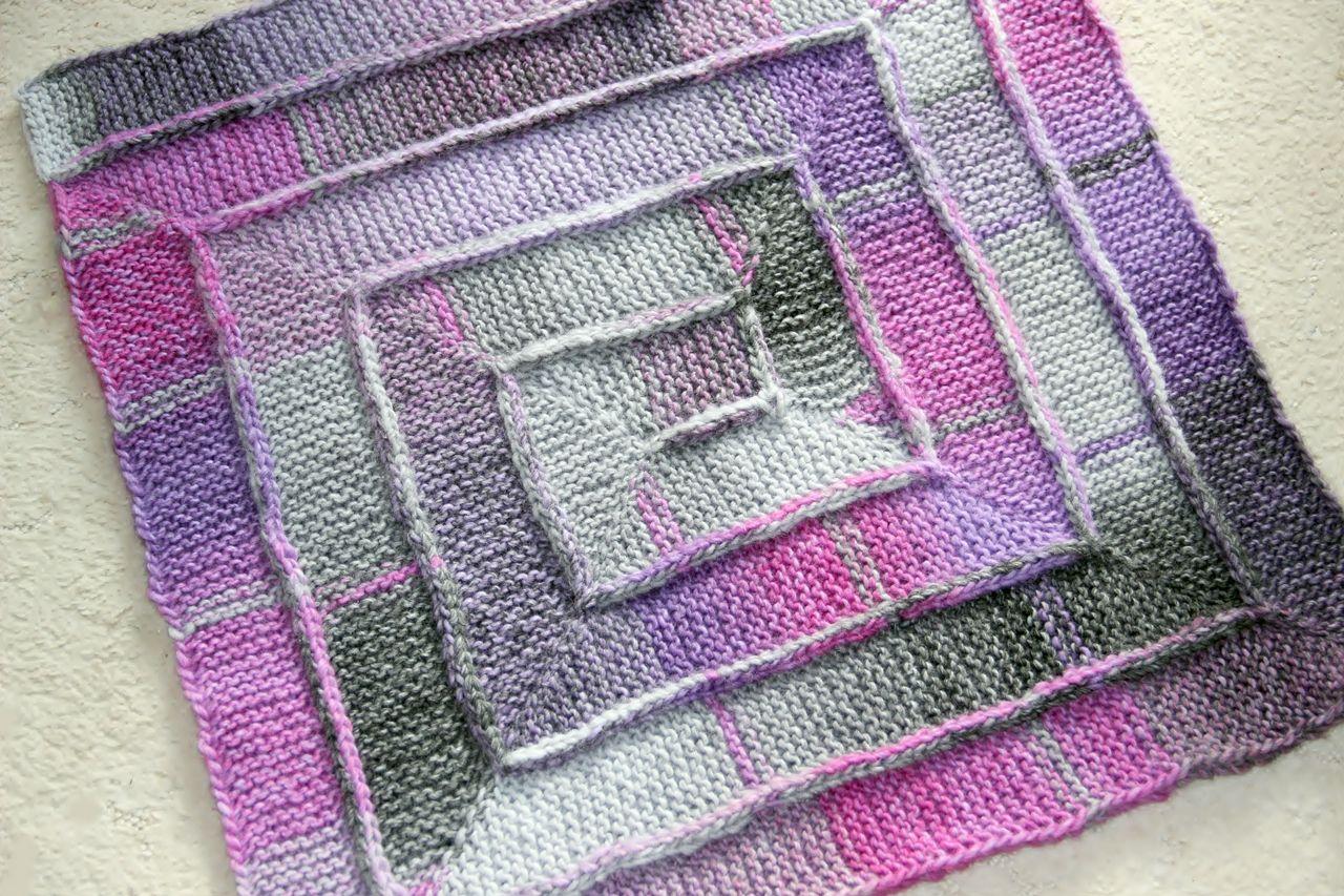 10 Maschen Decke Mit Farbverlaufsgarn Handarbeiten Von Ina