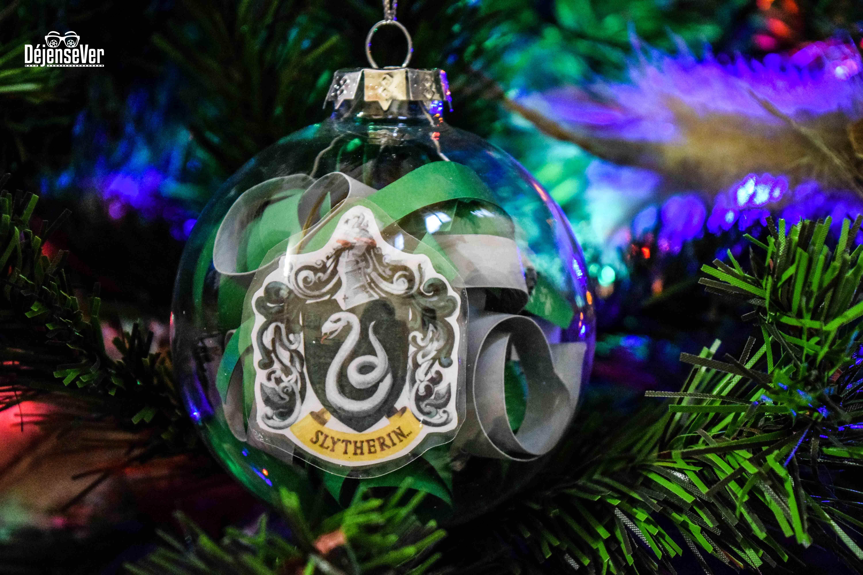 3 Harry Potter Slytherin Ornaments Christmas Tree