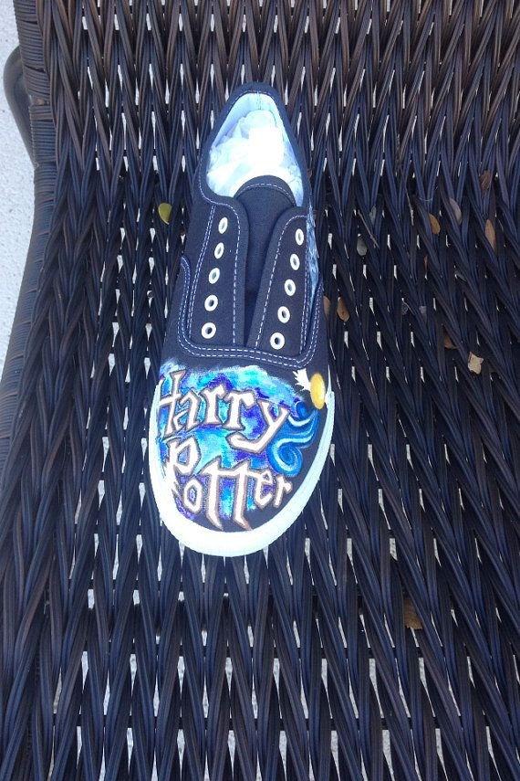 Handpainted Harry Potter Shoes by StartEachDayLaughing on Etsy, $85.00