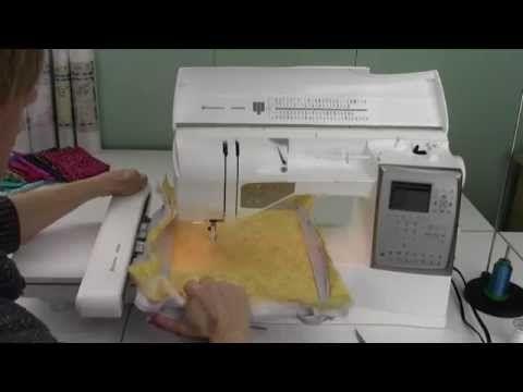 Husqvarna Viking Topaz 40 40 Attaching The Embroidery Hoop Amazing Husqvarna Topaz 20 Sewing Embroidery Machine