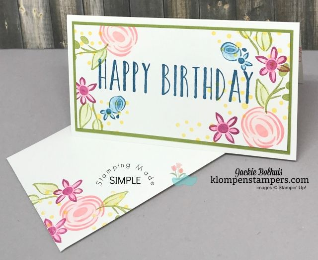 Perennial Birthday Stamp Set Is Perfect For Quick And Easy Birthday