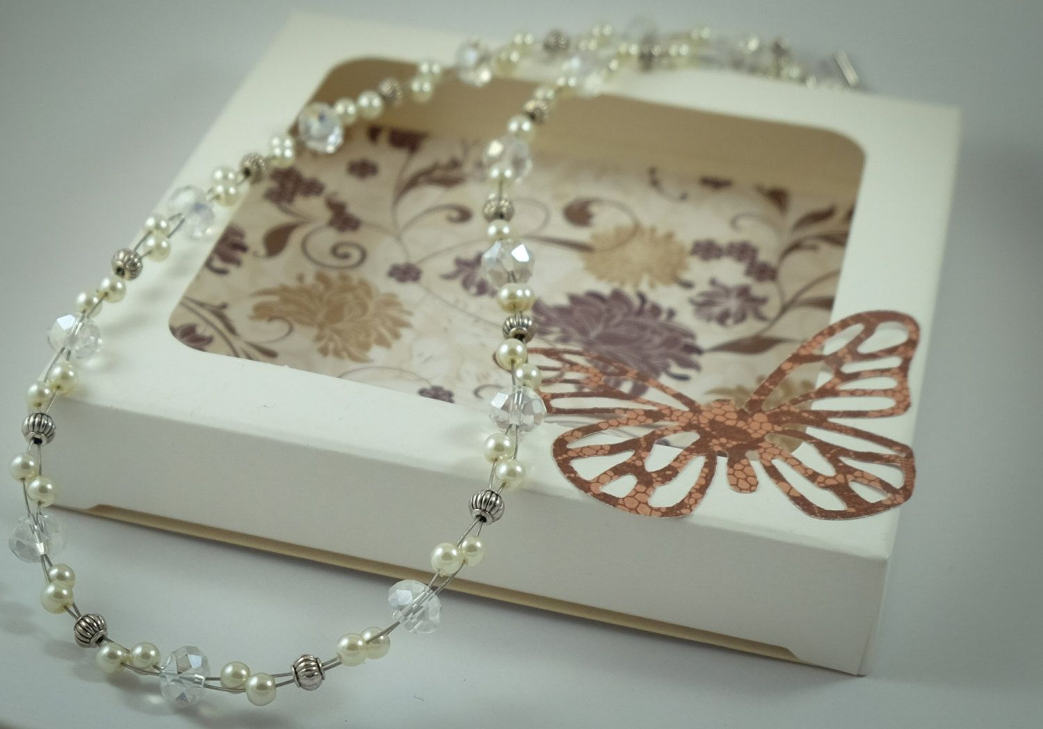 Ivory pearl and silver necklace by ButterflyJade on Etsy https://www.etsy.com/listing/223739251/ivory-pearl-and-silver-necklace