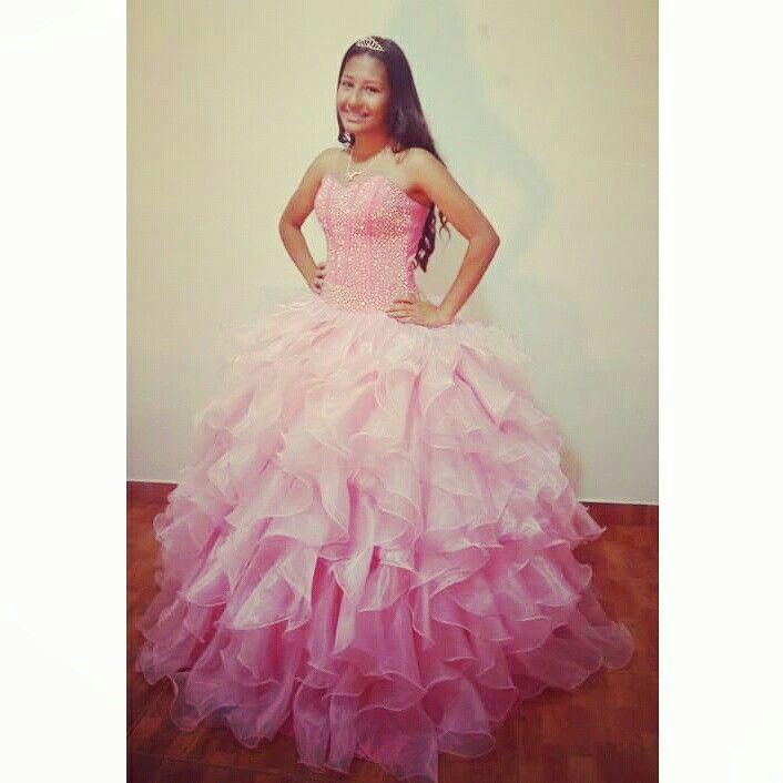 Vestido para quinceañera convertible, color rosado, confeccionado en ...