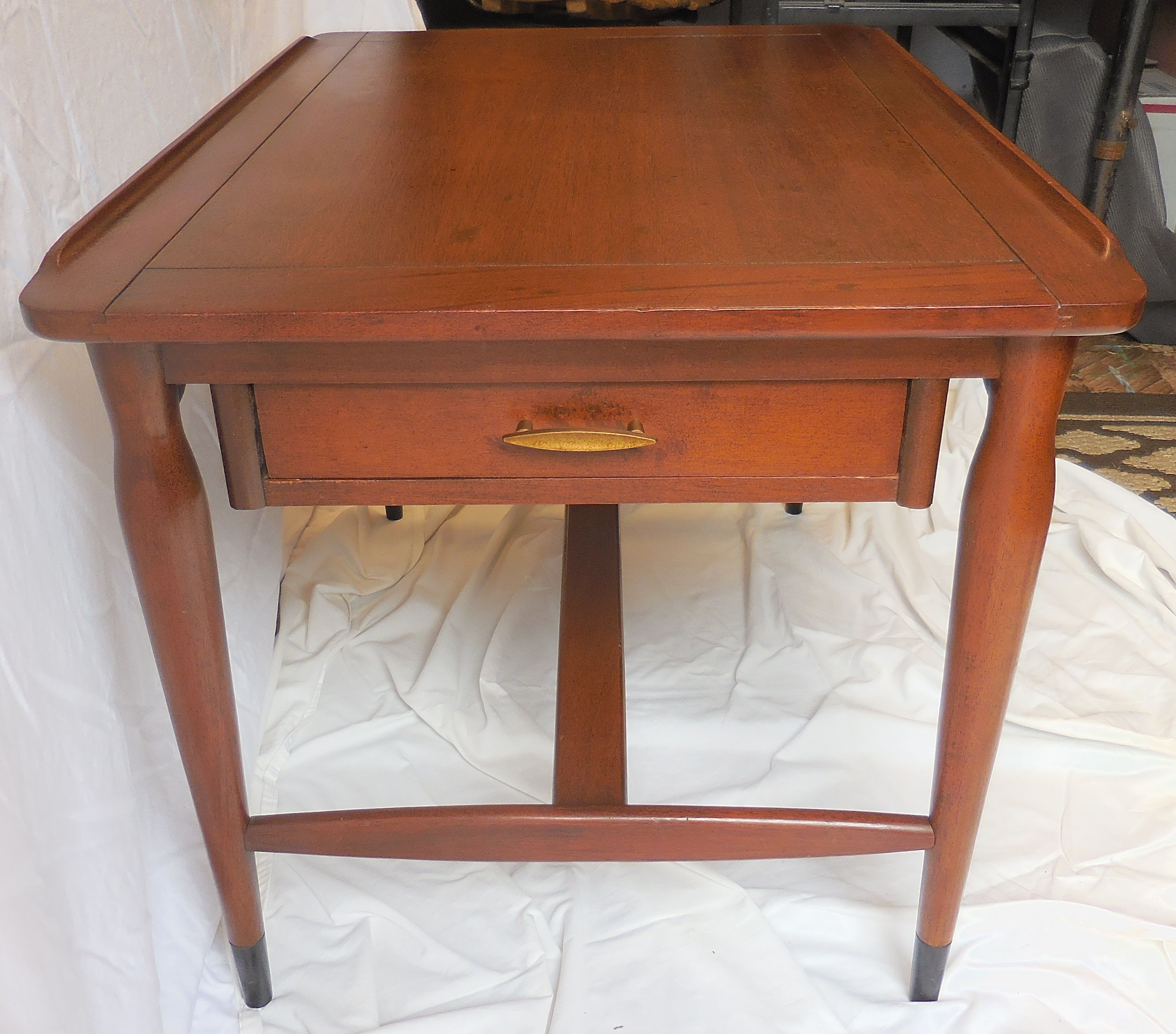 Surfboard Side Table With Drawer Mid Century Other Furniture