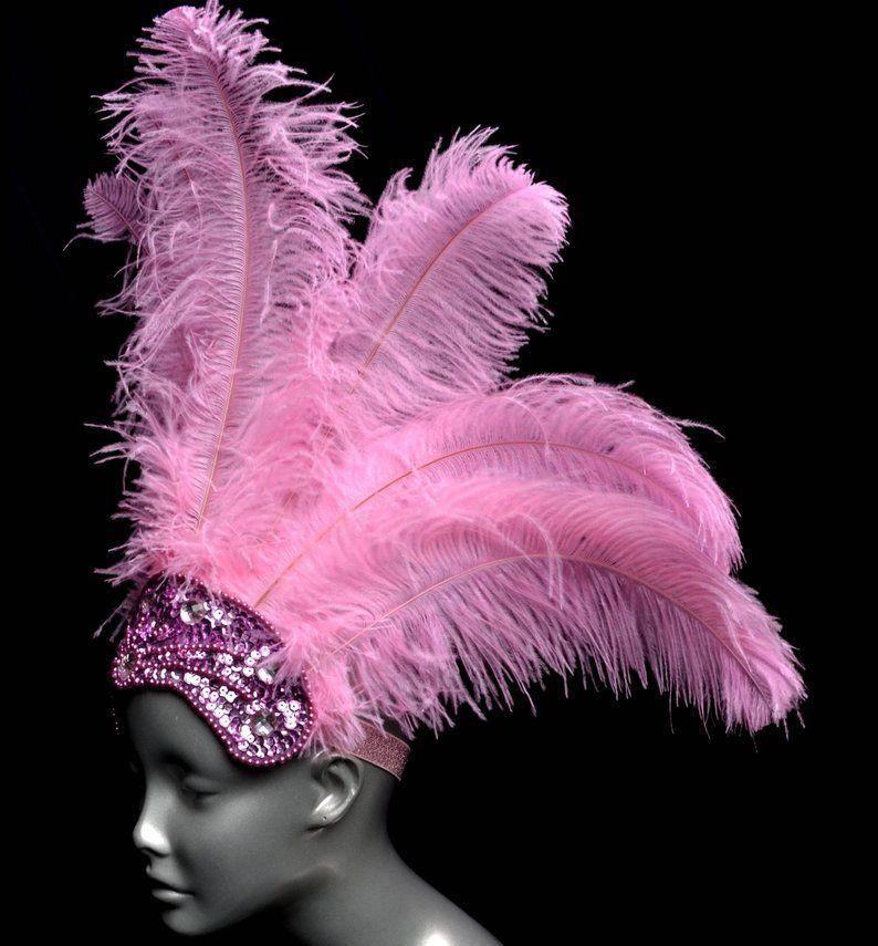 PINK Drag Queen CABARET Feather SHOULDER WING HEADDRESS