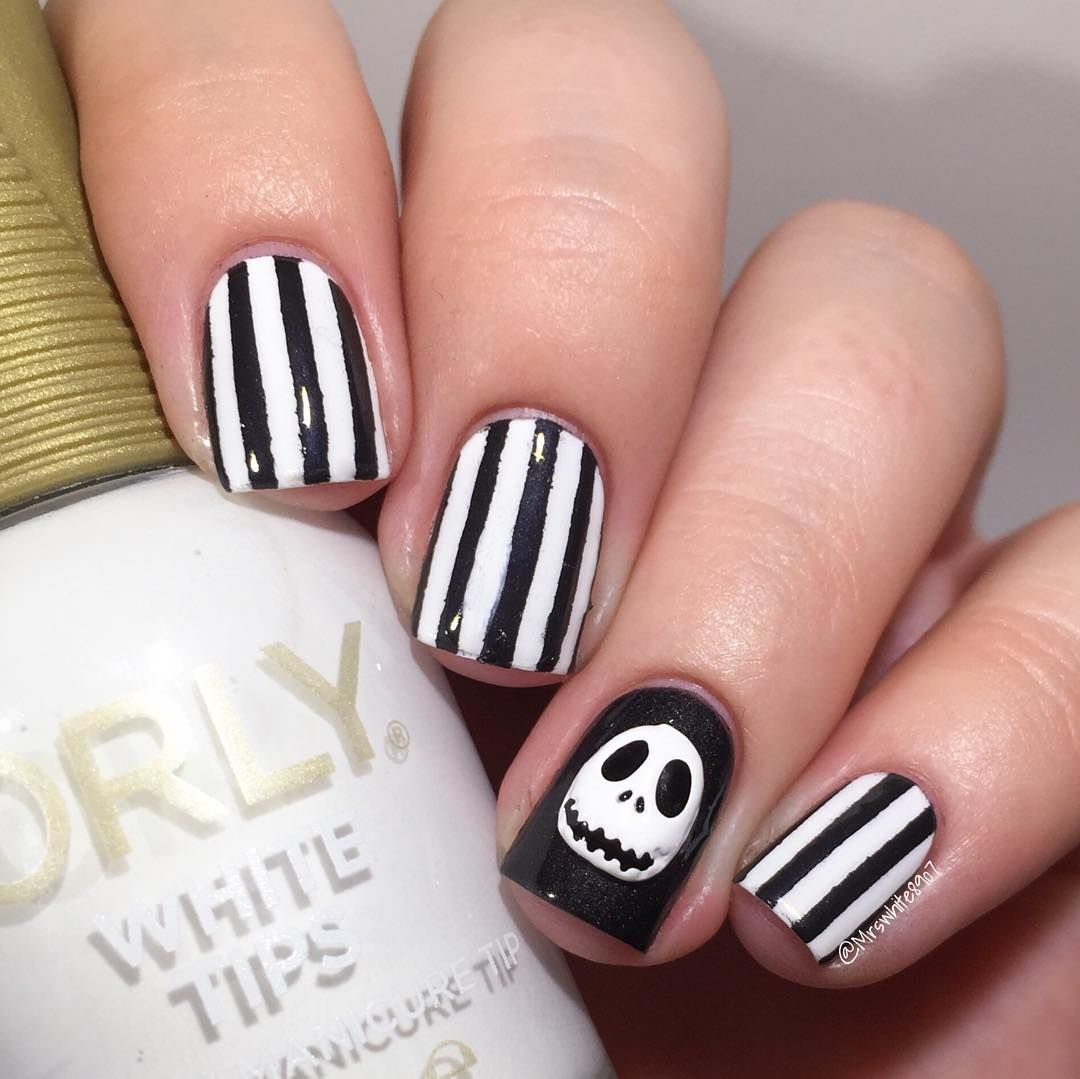 mrswhite8907 | Here are some Jack Skellington nails I did using the ...