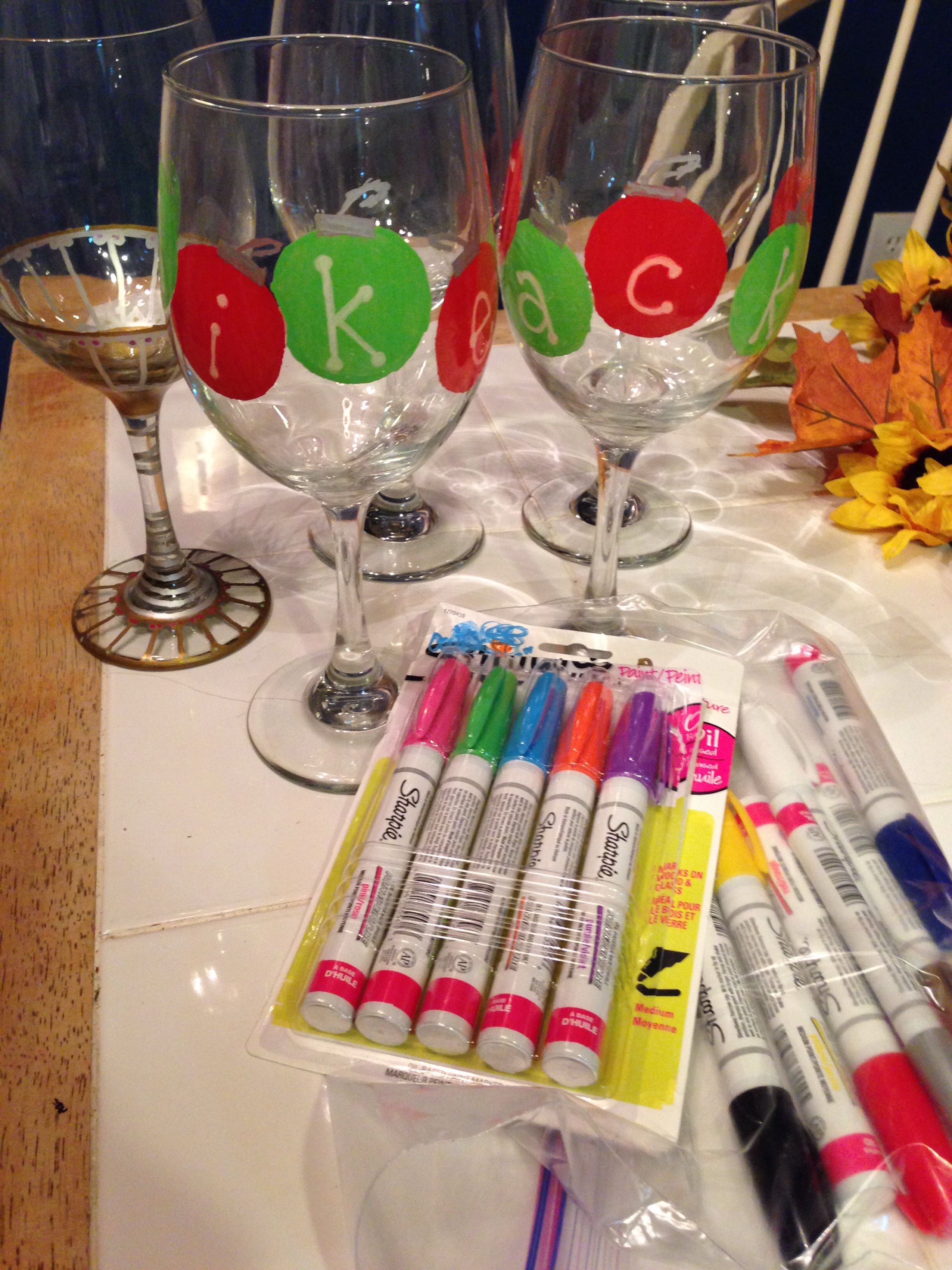 How to decorate glasses