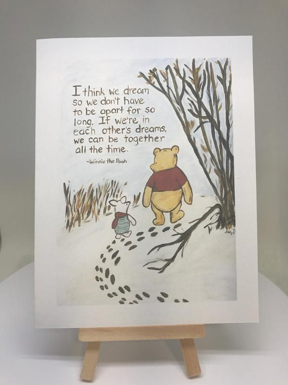 miss you Winnie the Pooh thinking of you, warm thoughts card Pooh and Piglet