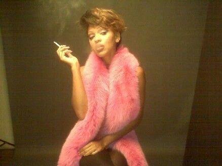 Meagan Good Smoking
